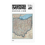 Vintage Map of Ohio (1921) Stamp