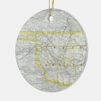 Vintage Map of Oklahoma (1889) Ceramic Ornament