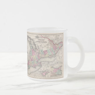 Vintage Map of Ontario (1857) Frosted Glass Coffee Mug