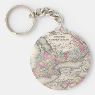 Vintage Map of Ontario (1857) Keychain