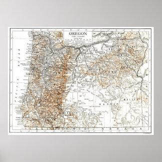 Vintage Map of Oregon (1911) 2 Poster