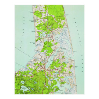 Vintage Map of Orleans Massachusetts (1946) Poster