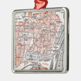 Vintage Map of Ostend Belgium (1905) Metal Ornament