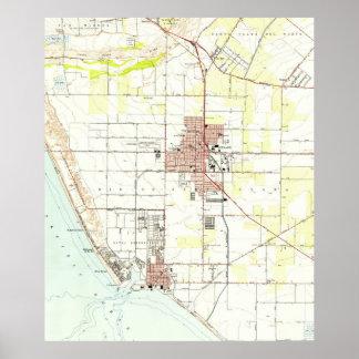 Vintage Map of Oxnard California (1949) 2 Poster