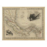 Vintage Map of Panama (1851) Poster