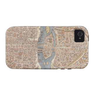 Vintage Map of Paris (1550) iPhone 4 Covers