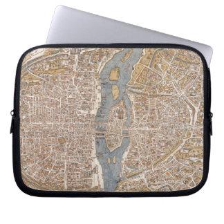 Vintage Map of Paris (1550) Laptop Computer Sleeves