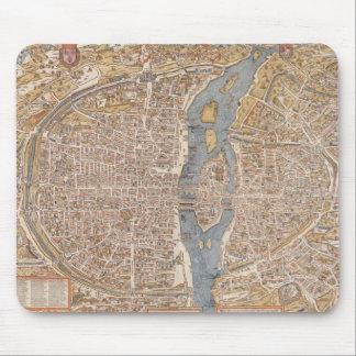 Vintage Map of Paris (1550) Mouse Pad