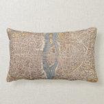 Vintage Map of Paris (1550) Throw Pillow