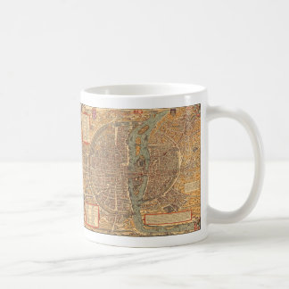 Vintage Map of Paris (1575) Coffee Mug