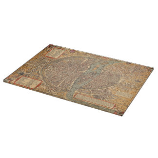 Vintage Map of Paris (1575) Cutting Board