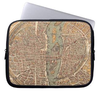 Vintage Map of Paris (1575) Laptop Computer Sleeves