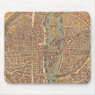 Vintage Map of Paris (1575) Mouse Pad