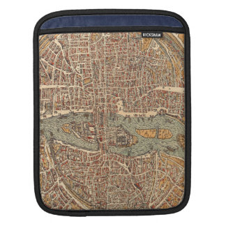 Vintage Map of Paris (1575) Sleeve For iPads