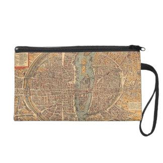 Vintage Map of Paris (1575) Wristlet Purse