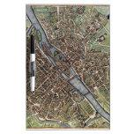 Vintage Map of Paris (1657) Dry-Erase Boards