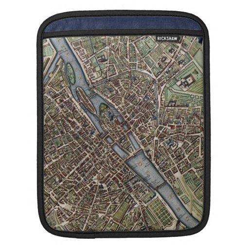 Vintage Map of Paris (1657) iPad Sleeve