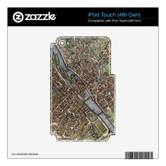Vintage Map of Paris (1657) iPod Touch 4G Skin