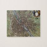 Vintage Map of Paris (1657) Jigsaw Puzzles