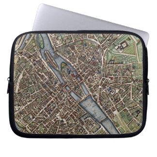 Vintage Map of Paris (1657) Laptop Sleeves