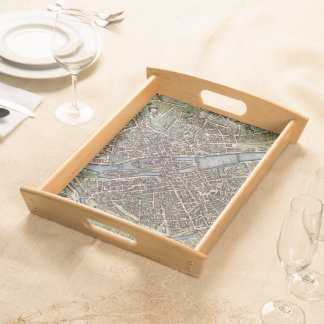 Vintage Map of Paris (1657) Serving Tray