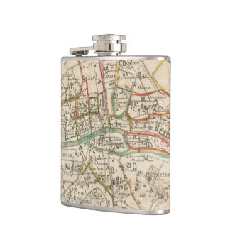 Vintage Map of Paris (1678) Flask