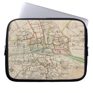 Vintage Map of Paris (1678) Laptop Sleeve