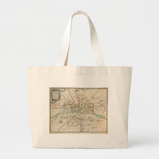 Vintage Map of Paris (1678) Large Tote Bag