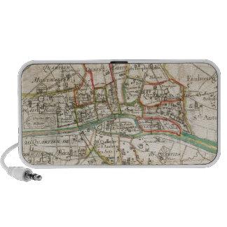 Vintage Map of Paris (1678) Travelling Speakers