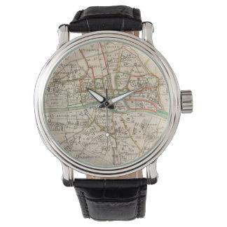 Vintage Map of Paris (1678) Wristwatch