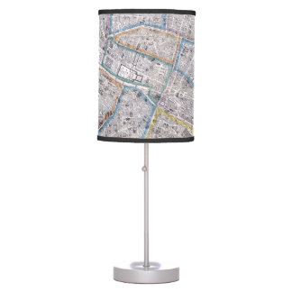 Vintage Map of Paris (1865) Desk Lamp