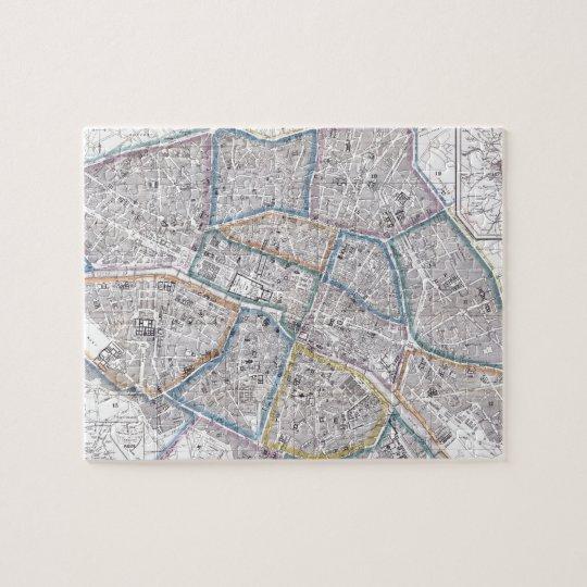Vintage Map of Paris (1865) Jigsaw Puzzle
