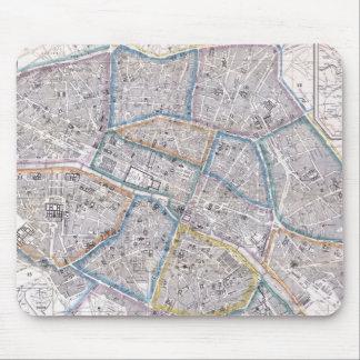 Vintage Map of Paris (1865) Mouse Pad