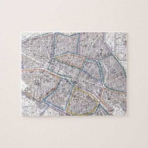 Vintage Map of Paris (1865) Puzzle