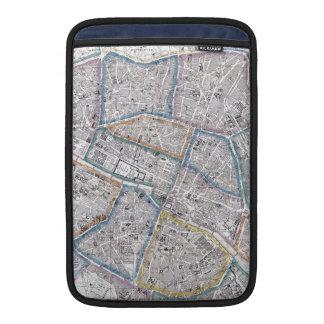 Vintage Map of Paris (1865) Sleeve For MacBook Air