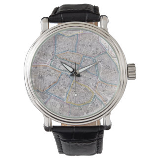 Vintage Map of Paris (1865) Wristwatch