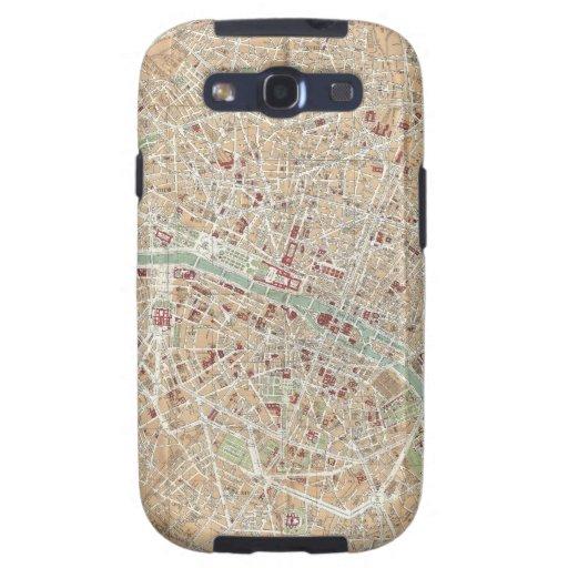 Vintage Map of Paris (1892) Samsung Galaxy SIII Case