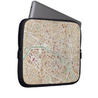 Vintage Map of Paris (1892) Laptop Sleeve