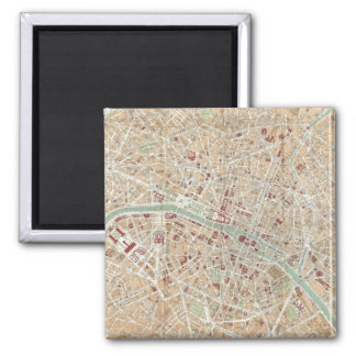 Vintage Map of Paris (1892) Magnet