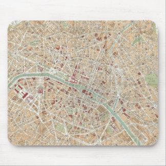 Vintage Map of Paris (1892) Mouse Pad