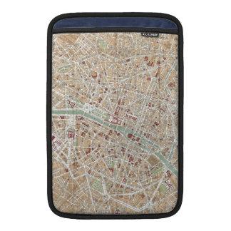 Vintage Map of Paris (1892) Sleeve For MacBook Air