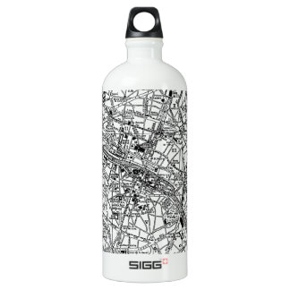 Vintage Map of Paris (1911) Aluminum Water Bottle