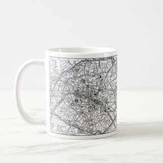 Vintage Map of Paris (1911) Coffee Mug
