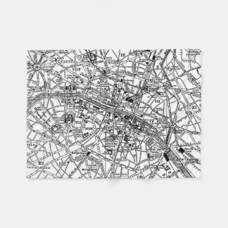 Vintage Map of Paris (1911) Fleece Blanket