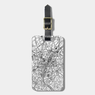 Vintage Map of Paris (1911) Tag For Luggage