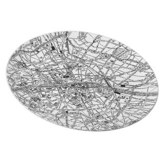Vintage Map of Paris (1911) Melamine Plate
