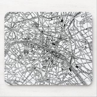 Vintage Map of Paris (1911) Mouse Pad