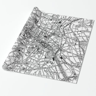 Vintage Map of Paris (1911) Wrapping Paper