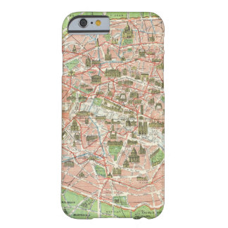 Vintage Map of Paris (1920) Barely There iPhone 6 Case