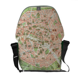 Vintage Map of Paris (1920) Courier Bag
